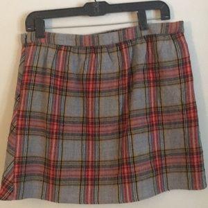 J. Crew plaid skirt